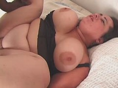 Sensual enormous honey fucking hard with horny guy great bbw