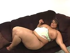 Obese ebony w huge boobs sucks cock great bbw