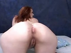Sensual redhead fatty shows off and blowing great bbw