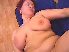 Guy pokes chubby housewife on floor great bbw