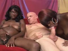 Preggy black girls share white cock in wild orgy great bbw
