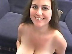 Busty fatty gets pearl sperm on her mellons great bbw