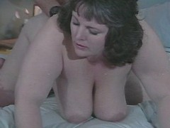 Megabusty fat woman fucking with dude on sofa great bbw