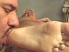 Pregnant blonde hard fucked by horny man in bed great bbw