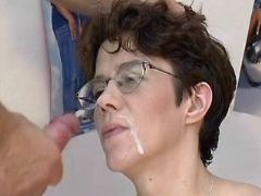 Pregnant milf gets hard fuck and cumload on face