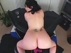 Plump brunette plays with her pussy great bbw