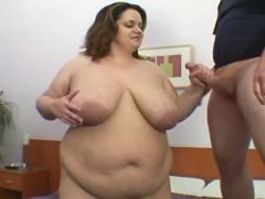 Naughty fat girl prefers hard cock