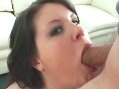 Depraved plump girl throats huge cock on floor great bbw