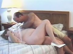 Lustful pregnant girl with big belly seduces man