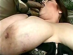 Giant woman in stockings sucks cock great bbw