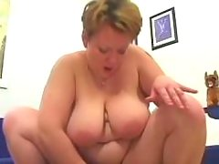 Busty plump housewife jumps on cock great bbw