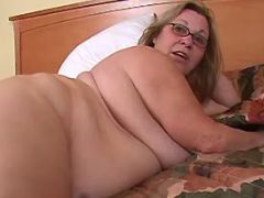Chubby granny seduces man in bed great bbw