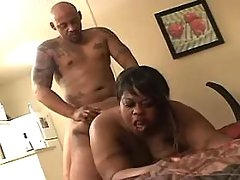 BBW gets cum on tits after fucking out of door great bbw